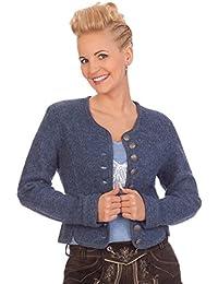 Damen Trachten Walkjanker - 53.040 - sand, jeansblau