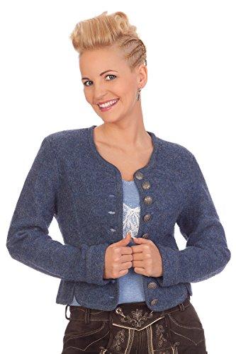 Damen Trachten Walkjanker - 53.040 - sand, jeansblau, Größe 36