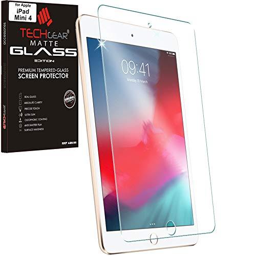 TECHGEAR iPad Mini 4, iPad Mini 5 (2019) Matt Panzerglas - Matte Blendschutz Panzerglas Auflage, Original-gehärtetes Glas-Displayschutzfolie kompatibel mit Apple iPad Mini 4 / Mini 5 (5. Gen) Gen Screen Protector