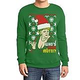 Geiler Hässlicher Weihnachtspullover mit Angie - Who's Your Mutti? Sweatshirt Small Grün