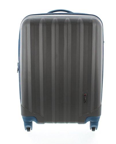100% ABS Hartschalen Koffer / Trolley mit 4 Rollen und Zahlenschloss, Pianeta Serie Ibiza (L (65cm), Anthrazit)