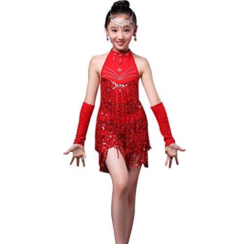 ock Mädchen Salsa Samba Tango Ballsaal Spiel Kleidung Praxis Spiel Tanz Kleidung (Latin Dance Kostüme Kinder)