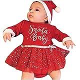 FRAUIT Tutine Neonato Invernali Vestito Natale Bambina Tutina Neonata Cotone Leggero Inverno Autunno Body Neonati Divertenti Manica Lunga Pagliaccetti Pagliaccetto Bimbo 24 Mesi