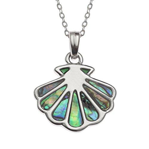 Kiara Schmuck Scallop Shell Anhänger Halskette mit Blaue -
