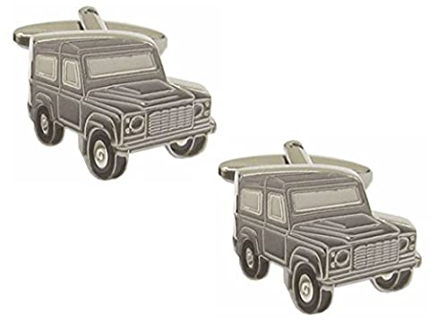 Landrover Cufflinks. Premium Quality Cufflinks from the Dalaco Novelty Collection. Luxury cuff links from the unsurpassed Dalaco range, with high quality presentation box and pen. Made in England.