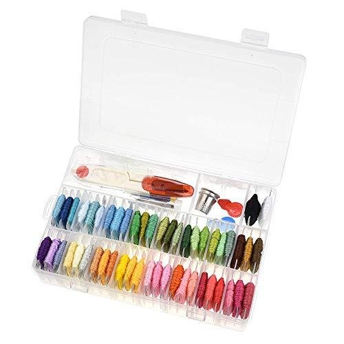 GZQ Kit principiantes bordado caja organizadora almacenamiento