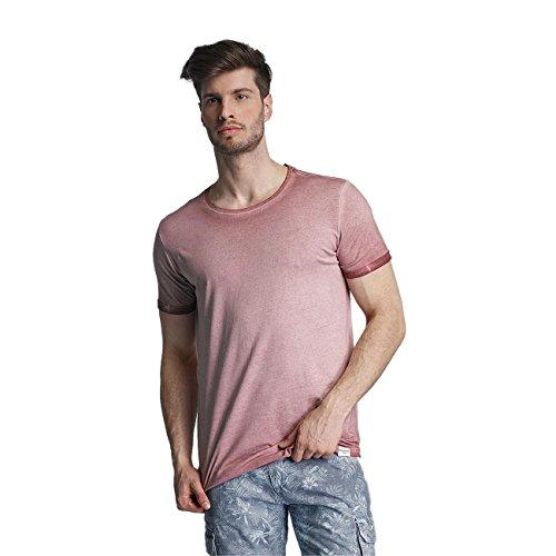 SHINE Original Herren Oberteile / T-Shirt Dirt Dye Wash Rosa