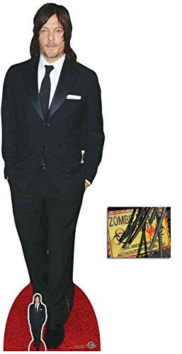 BundleZ-4-FanZ Norman Reedus Lebensgrosse und klein Pappfiguren/Stehplatzinhaber/Aufsteller - Enthält 8X10 (25X20Cm) starfoto