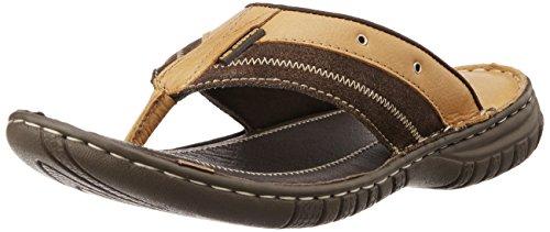 c2ac9e41396 Lee cooper lc1962 Men S Tan Leather Flip Flops Thong Sandals 9 Uk- Price in  India