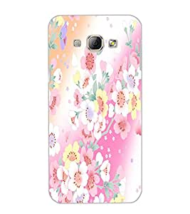 SAMSUNG GALAXY A8 FLOWERS Back Cover by PRINTSWAG