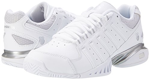 K-swiss chaussures de tennis pour femme Blanc (White/silver)