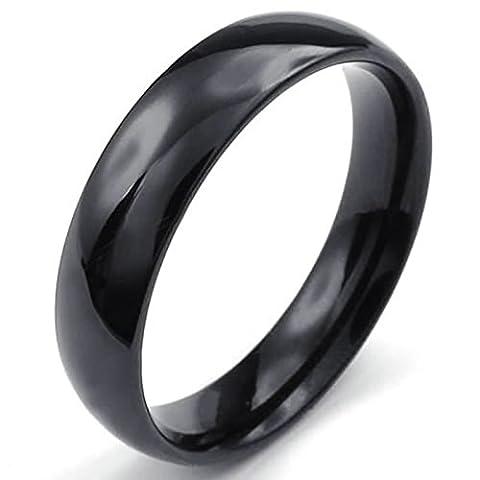 Aooaz Gravure Libre Bague Pour Hommes 5 mm Haute Poli Taille Plaine 59 Promesse De Mariage
