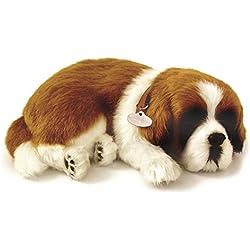 Perfect Petzzz 65419 - Peluche interactivo de perro San Bernardo (25 cm, efecto de respiración)