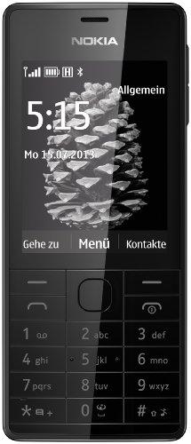 Nokia 515 DE Smartphone ( 6,1 cm (2,4 Zoll) Farbdisplay, 5 Megapixel Digitalkamera, Bluetooth 3.0) schwarz Prepaid Handy Bluetooth