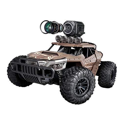 RQINW 1:16 RC Hochgeschwindigkeits Rennauto mit Fernbedienung, HD-WLAN-Kamera-480P,4WD Geländefahrzeug, 2,4 GHz, Kletterspielzeug, wiederaufladbar,braun