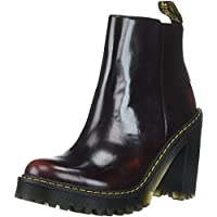 Dr. Martens Women's Magdalena Fashion Boot, Cherry Red Arcadia, Womens 7/Mens 6
