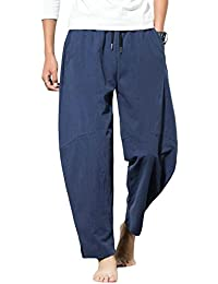 Yonglan Hombre Hippie Pantalones Harem Pants Aladdin Pants Baggy Wide Leg Pantalones Impresos As Picture 4 4XL 5OrnrM