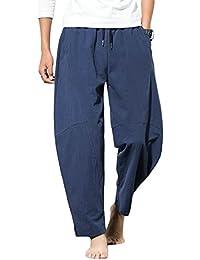 Yonglan Hombre Hippie Pantalones Harem Pants Aladdin Pants Baggy Wide Leg Pantalones Impresos As Picture 4 4XL