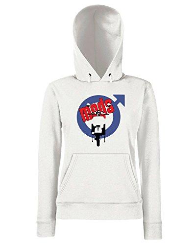 T-Shirtshock - Sweats a capuche Femme OLDENG00185 mods white (3) Blanc