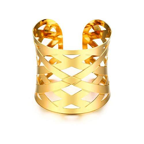 MHOOOA Armband Armreif Hohl Kreuz Wide Wrap Stulpearmbänder Armbänder für Frauen Schmuck Gold-Farbe Kostüm Statement Armbänder (Kostüm Schmuck Kunst)