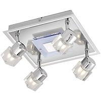 Paul Neuhaus 50390-17 - Plafoniera a 4 punti luce Keal, LED e telecomando (Chrome Quattro Punti)
