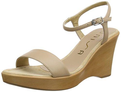 Unisa Damen Rita_17 Offene Sandalen mit Keilabsatz Beige (Tawny)