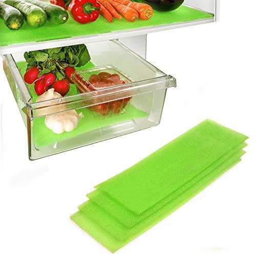 Dualplex Fruit & Veggie Life Extender Kofferraumwanne für Kühlschrank Schubladen (4Pack)-verlängert die Lebensdauer Ihrer erzeugen & verhindert Verderb, 61x 15,2cm Life Extender