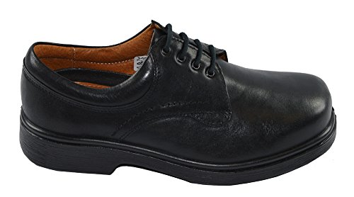 Mens Extra Wide Casual Lace Up Shoes 6E Width (9, Black)