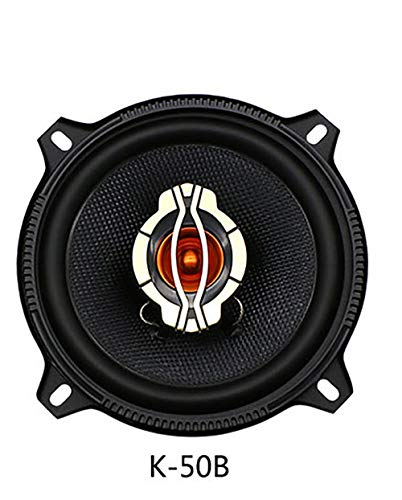 LIDAUTO Dual-Kegel Auto Koaxial Horn Fahrzeug Auto Audio Musik Stereo HiFi Lautsprecher Nicht-destruktiv Installation 2 Stücke 4inch 5inch 6inch 100W 120W 180W,5in 100w Dual Cone