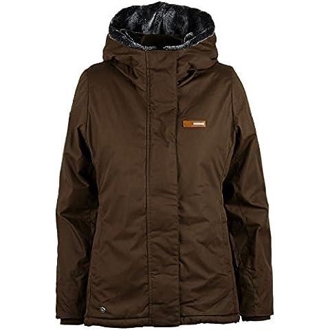 Mazine Mujer Chaqueta Kimberley Jacket–Dark Brown, marrón oscuro, extra-small