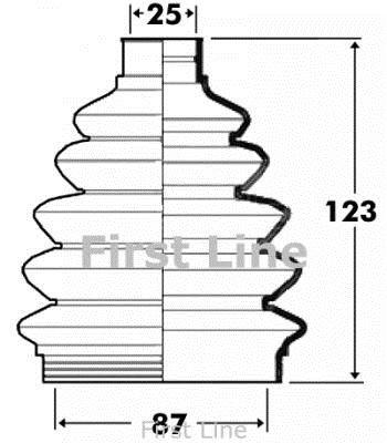 First Line FCB6105 Joint-soufflet, arbre de commande