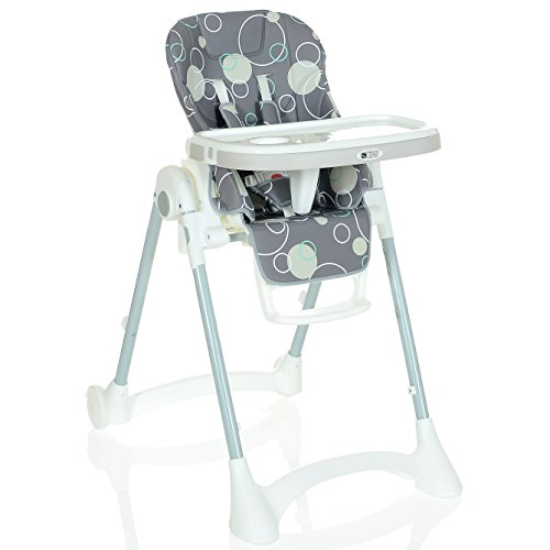 Kinder-Hochstuhl bis 25 kg Kompakt Faltbar LCP Kids Baby Stuhl; Grau