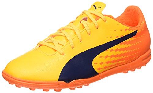 Puma Evospeed 17.5 TT, Chaussures de Football Homme Jaune (Ultra Yellow-peacoat-orange Clown Fish 03)