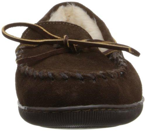 Minnetonka Herren Pile Lined Hardsole Mokassin Braun (Chocolate)