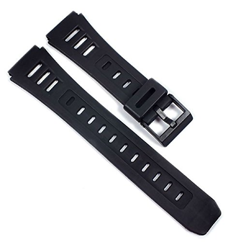 Ersatzband Uhrenarmband Kunststoff Band weich schwarz 19mm Minott 21597