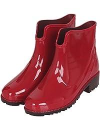 afc8884f72f94 Botas Agua Cortas Goma Impermeables Botas de Lluvia para Mujer Botines  Chelsea de Goma Outdoor Antideslizante