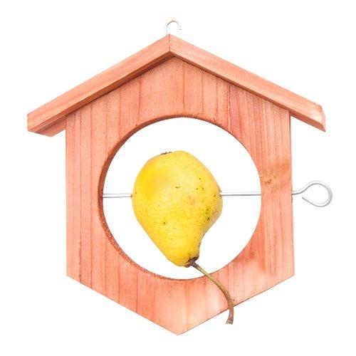 Gardigo Apfel Futterstation Meisenknödelhalter Futterhalter aus Holz - 3