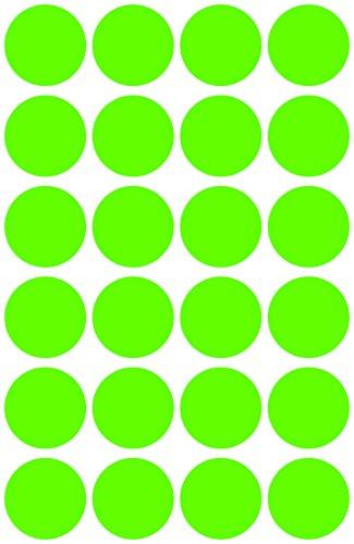 Avery 3597 Círculo Verde 96pieza(s) - Etiqueta autoadhesiva (Verde, Círculo, Papel, 1,8 cm, 96 pieza(s), 24 pieza(s))