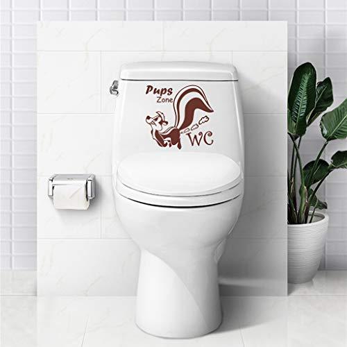 (Mitlfuny Weihnachten Home TüR Dekoration,Aufkleber-Karikatur-Eichhörnchen-Tier DIY Wand-Aufkleber-Toiletten-Badezimmer-Ausgangsdekoration)