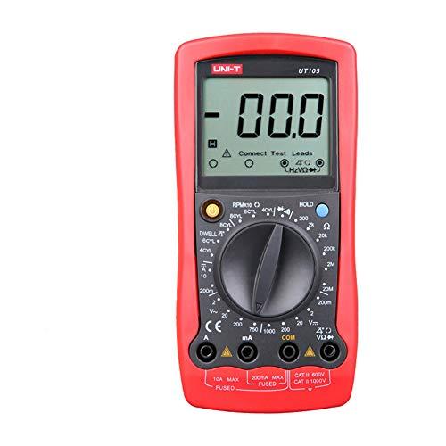 Gtest UT105 automotriz multímetro portátil, AC/DC Volt Ohm diodo de Corriente voltímetro probador medidores Digital Amómetro Coche Multi Tester