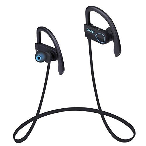 Auriculares Bluetooth DOY impermeables V4.1 Deportivos inalámbricos Cascos con aptX,adecuados Para correr, Andar en bicicleta, para iphone7,7plus, Samsung S6 y Otros Dispositivos Bluetooth (Azul)
