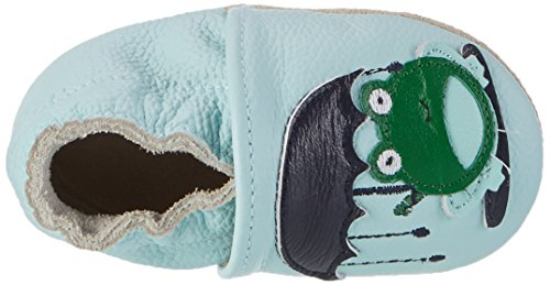 Rose & Chocolat Baby Jungen Puddle Frog Lauflernschuhe Blau (Blue)