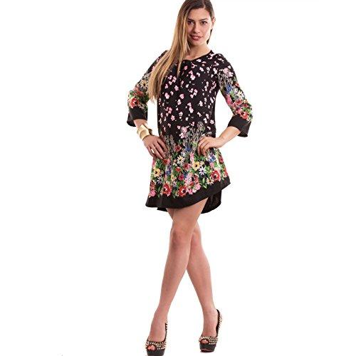 Toocool - Robe - Tulipe - Femme fiori nero
