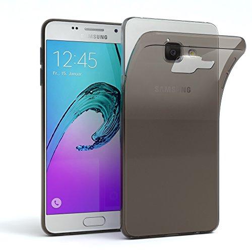 EAZY CASE Hülle für Samsung Galaxy A3 (2016) Schutzhülle Silikon, Ultra dünn, Slimcover, Handyhülle, Silikonhülle, Backcover, Durchsichtig, Klar Anthrazit
