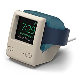 elago W4 Stand Charging Dock [Aqua Blue] - [Vintage 1998 Design][Supports Nightstand Mode][Cable Management] - for Apple Watch Series 1, 2 and 3/38mm, 42mm