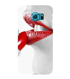 EPICCASE hot lips Mobile Back Case Cover For Samsung Galaxy S6 Edge (Designer Case)