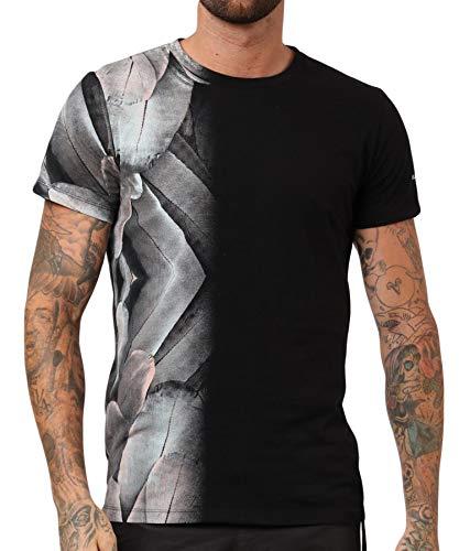 Religion Clothing Herren T-Shirt Shirt 19BFEF02 Feather Schwarz