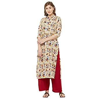 GoSriKi Women's Crepe Straight Salwar Suit Set
