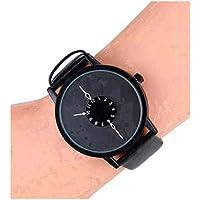Att'z Analog Genuine Leather Black Belt Black Dial Women Watch & Girl's Watches-A4