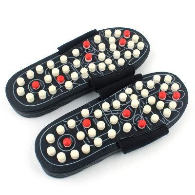 zxxxxz pantofole di massaggio con pietra naturale, sandali di riflessologia terapeutica per il piede massaggio di agopuntura arco di shiatsu sollievo dal dolore, donne uomini,l